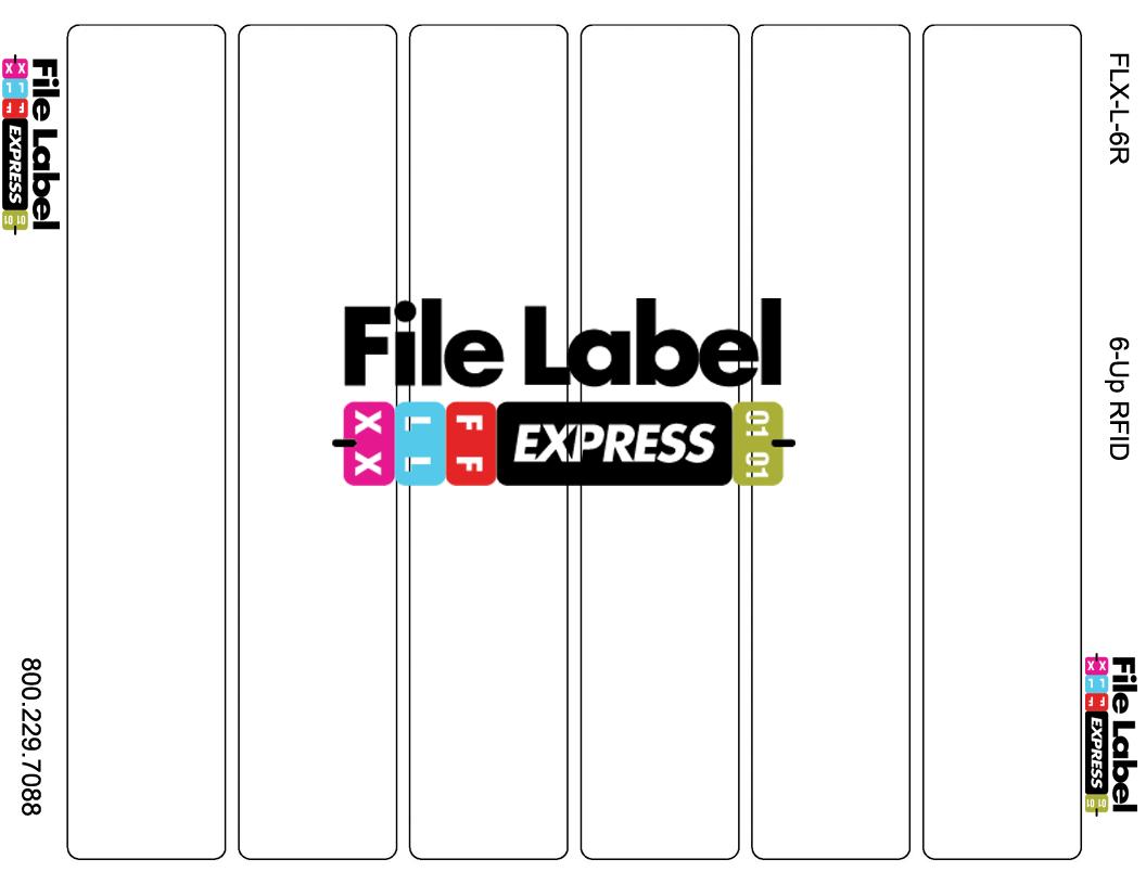 RFID File Folder Labels