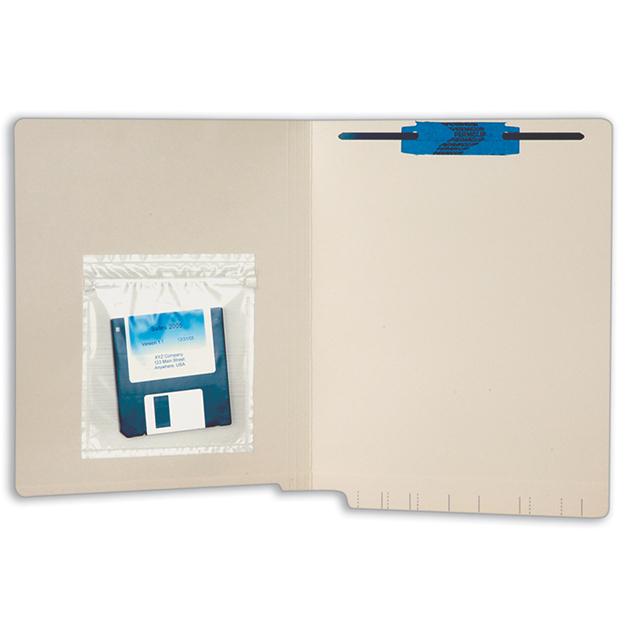 Tabbies 54470 Self-Adhesive Zip Lock Poly Pocket