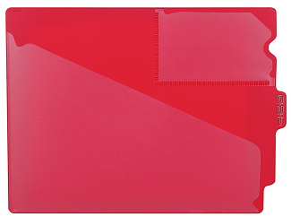 Tabbies 74500 Red Center Tab Vinyl Out Guides