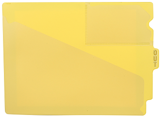 Tabbies 74504 Yellow Center Tab Vinyl Out Guides