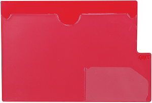 Tabbies 74580 Red Large Tab Vinyl Out Guides