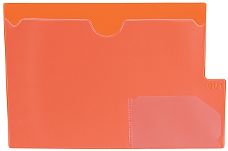 Tabbies 74583 Orange Large Tab Vinyl Out Guides