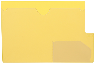 Tabbies 74584 Yellow Large Tab Vinyl Out Guides