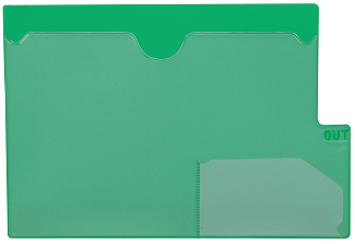 Tabbies 74585 Green Large Tab Vinyl Out Guides