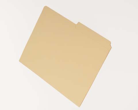 File Folders Half Cut Top Tab Single Fastener