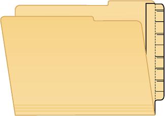 Tabbies 55991 Extenda Folder Strips 9.25 X 3.25 Manila Undercut