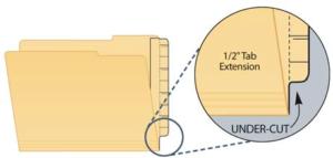 Extenda Folder Strips 9.25 X 3.25