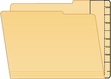 Tabbies 55992 Extenda Folder Strips 9.5 X 4.75 Manila Full Tab