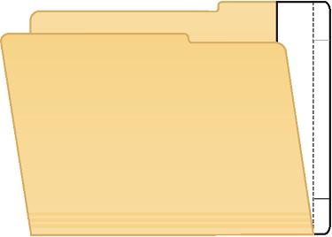 Tabbies 55994 Extenda Folder Strips 9.5 X 2