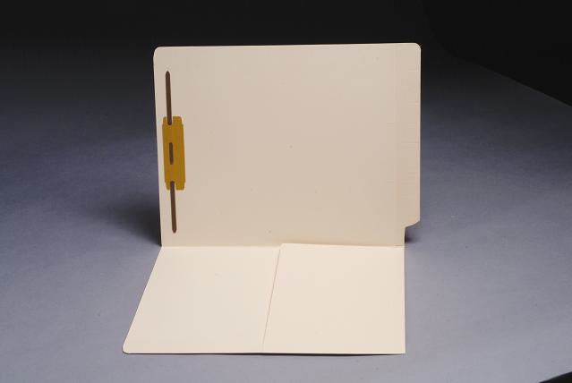 11 pt Manila Folders, 1/2 Pocket Inside Front, Full Cut End Tab, Single Fastener