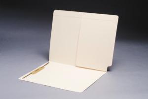 Pocket File Folders, Inside Back, Full Cut End Tab, Single Fastener (Box of 50)
