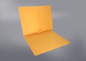 Gold Color File Folders, Full Cut End Tab, Letter Size, Full Back Pocket (Box of 50)