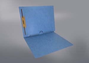 Blue Color File Folders, Full Cut End Tab, Letter Size, Full Back Pocket, Single Fastener (Box of 50)