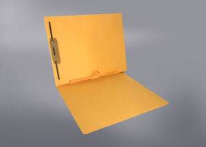 Gold Color File Folders, Full Cut End Tab, Letter Size, Full Back Pocket, Single Fastener (Box of 50)