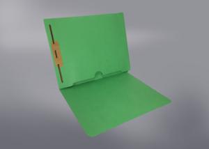 Green Color File Folders, Full Cut End Tab, Letter Size, Full Back Pocket, Single Fastener (Box of 50)