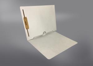 Gray Color File Folders, Full Cut End Tab, Letter Size, Full Back Pocket, Single Fastener (Box of 50)