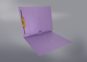 Lavender Color File Folders, Full Cut End Tab, Letter Size, Full Back Pocket, Single Fastener (Box of 50)