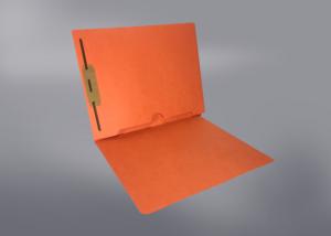Orange Color File Folders, Full Cut End Tab, Letter Size, Full Back Pocket, Single Fastener (Box of 50)
