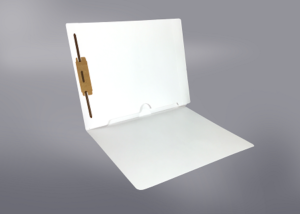 White Color File Folders, Full Cut End Tab, Letter Size, Full Back Pocket, Single Fastener (Box of 50)