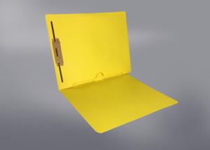 Yellow Color File Folders, Full Cut End Tab, Letter Size, Full Back Pocket, Single Fastener (Box of 50)