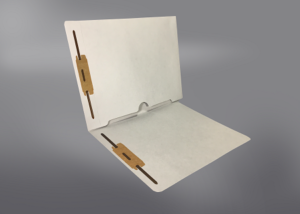 Gray Color File Folders, Full Cut End Tab, Letter Size, Full Back Pocket, Double Fastener (Box of 50)