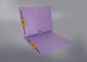 Lavender Color File Folders, Full Cut End Tab, Letter Size, Full Back Pocket, Double Fastener (Box of 50)