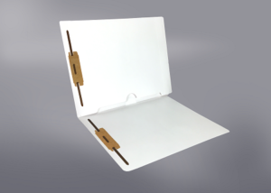 White Color File Folders, Full Cut End Tab, Letter Size, Full Back Pocket, Double Fastener (Box of 50)