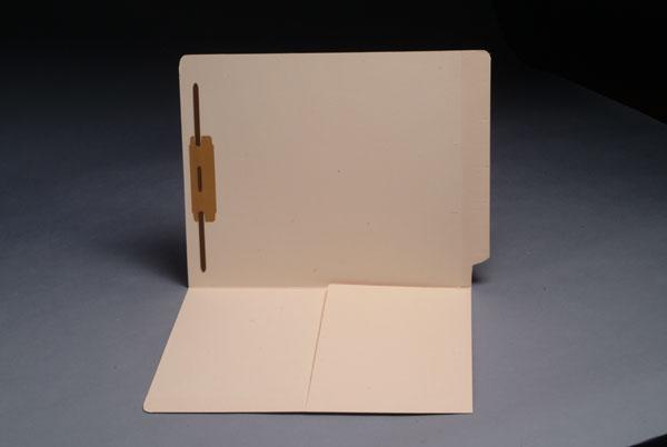 14 pt Manila Folders, 1/2 Pocket Inside Front, Full Cut End Tab, Single Fastener