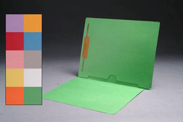 Color File Folders, Full Cut End Tab, Letter Size, Full Back Pocket, Single Fastener (Box of 50)