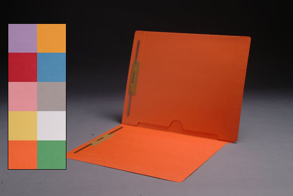 Color File Folders, Full Cut End Tab, Letter Size, Full Back Pocket, Double Fastener (Box of 50)