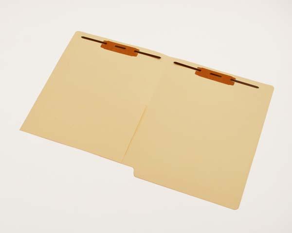 11 pt Manila Folders, 1/2 Pocket Inside Front, Full Cut End Tab, Double Fastener