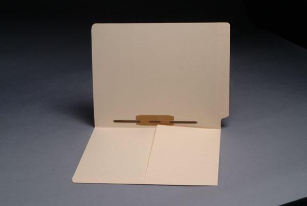11 pt Manila Folders, 1/2 Pocket Inside Front, Full Cut End Tab, Side Fastener
