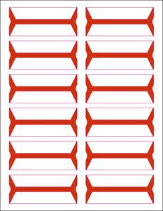 Tabbies Wrap Around File Folder Labels Compatible Acme Abgor Labels Orange