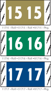 Tabbies 81700 Series Year Code Labels Col R Tab Products Qty 250