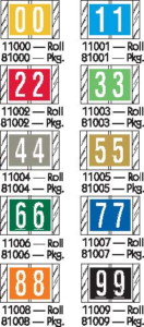 Tabbies 81000 Col R Tab Numeric Labels Qty 100