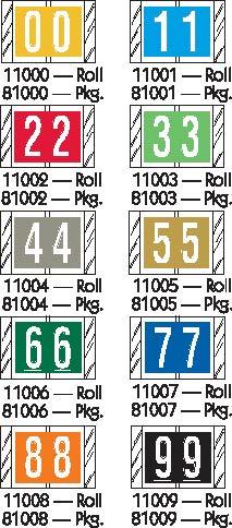 Tabbies 11000 Col R Tab Numeric Labels Qty 500