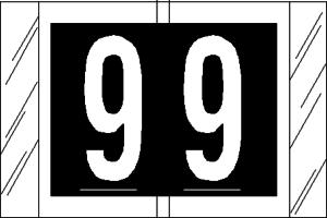 Tabbies 11000 Col R Tab Numeric Labels 9