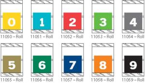 Tabbies 11050 Col R Tab Numeric Labels Qty 500