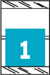 Tabbies 11050 Col R Tab Numeric Labels 1