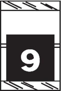 Tabbies 11050 Col R Tab Numeric Labels 9