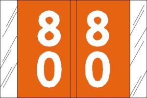 Tabbies 11200 Col R Tab Numeric Labels 8