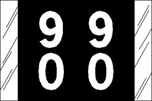 Tabbies 11200 Col R Tab Numeric Labels 9