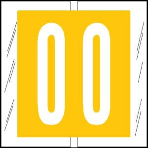 Tabbies 11500 Col R Tab Numeric Labels 0