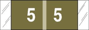 Tabbies 11850 Col R Tab Numeric Labels 5
