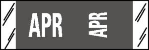 Tabbies 11880 Col R Tab Month Labels April