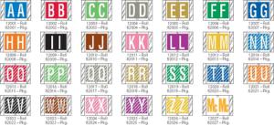 Tabbies 12000 Col R Tab Alpha Labels Qty 500