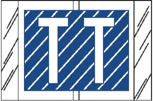 Tabbies 12000 Col R Tab Alpha Labels T