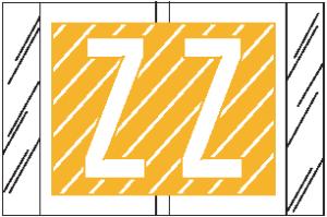 Tabbies 12000 Col R Tab Alpha Labels Z