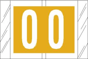 Tabbies 81000 Col R Tab Numeric Labels 0