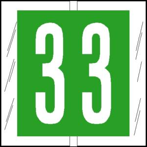 Tabbies 81500 Col R Tab Numeric Labels 3